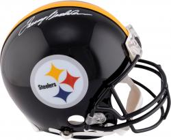 Terry Bradshaw Pittsburgh Steelers Autographed Riddell Pro-Line Authentic Helmet - Mounted Memories