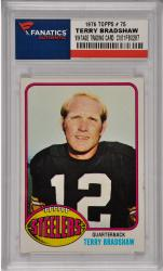 Terry Bradshaw Pittsburgh Steelers 1976 Topps #75 Card