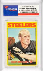 Terry Bradshaw Pittsburgh Steelers Autographed 1972 Topps #150 Card