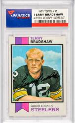 Terry Bradshaw Pittsburgh Steelers Autographed 1973 Topps #15 Card
