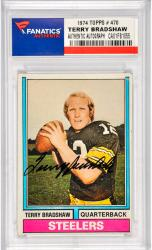 Terry Bradshaw Pittsburgh Steelers Autographed 1974 Topps #470 Card