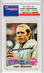 Terry Bradshaw Pittsburgh Steelers Autographed 1975 Topps #461 Card
