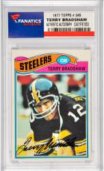Terry Bradshaw Pittsburgh Steelers Autographed 1977 Topps #245 Card