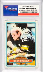 Terry Bradshaw Pittsburgh Steelers Autographed 1980 Topps #200 Card