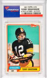 Terry Bradshaw Pittsburgh Steelers Autographed 1981 Topps #375 Card