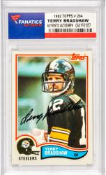 Terry Bradshaw Pittsburgh Steelers Autographed 1982 Topps #204 Card