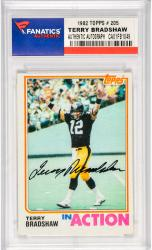 Terry Bradshaw Pittsburgh Steelers Autographed 1982 Topps #205 Card