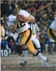 "Terry Bradshaw Pittsburgh Steelers Autographed 8"" x 10"" White Jersey Photograph"