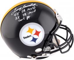 Terry Bradshaw Pittsburgh Steelers Autographed Proline Helmet with Multiple Inscriptions