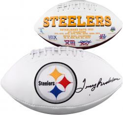 Terry Bradshaw Pittsburgh Steelers Autographed White Panel Football