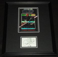Terry Brooks Signed Framed Star Wars Phantom Menace Book Cover Display