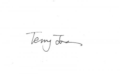 Terry Jones Signed 3x5 Index Card PSA/DNA COA Monty Python & The Holy Grail Auto