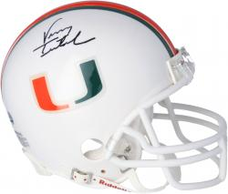 Vinny Testaverde Miami Hurricanes Autographed Riddell Mini Helmet