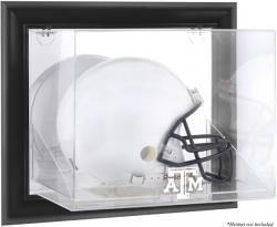 Texas A&M Aggies Black Framed Wall-Mountable Helmet Display Case