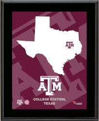 TEXAS A&M AGGIES (STATE) 10x13 PLAQUE (SUBL) - Mounted Memories