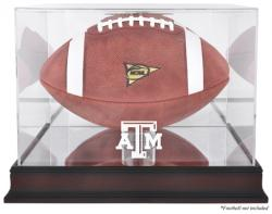 Texas A&M Aggies Mahogany Base Logo Football Display Case with Mirror Back