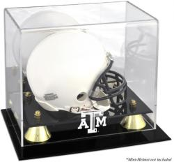 Texas A&M Aggies Logo Golden Classic Logo Mini Helmet Display Case