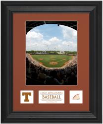 "Texas Longhorns 6"" x 8"" Framed Photograph with Descriptive Plate & Game-Used Baseball Piece"
