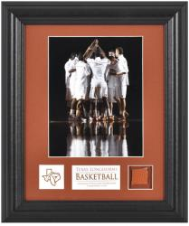 "Texas Longhorns 6"" x 8"" Framed Photograph with Descriptive Plate & Game-Used Basketball Piece"
