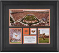 Texas Longhorns Framed 3-Photograph Collage with Game Used Football Piece