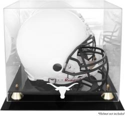 Texas Longhorns Golden Classic Logo Helmet Display Case with Mirrored Back