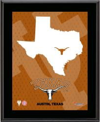 "Texas Longhorns Sublimated 10.5"" x 13"" State Plaque"