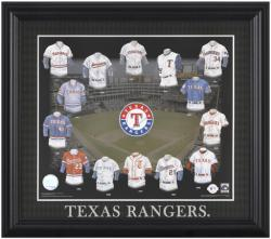 "Texas Rangers 13"" x 15"" Evolution Framed Print - Mounted Memories"