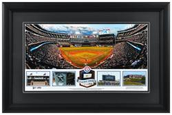 Rangers Ballpark in Arlington Texas Rangers Framed Stadium Panoramic with Game-Used Ball-Limited Edition of 500 - Mounted Memories