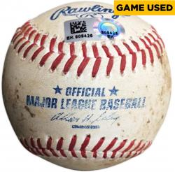 2014 Texas Rangers Game-Used Baseball - Mounted Memories