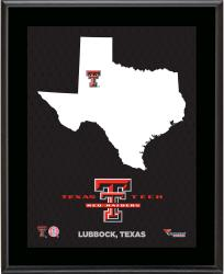 TEXAS TECH RED RAIDERS (STATE) 10x13 PLAQUE (SUBL) - Mounted Memories