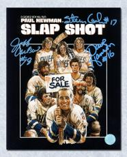 The Hanson Brothers Autographed Slap Shot Movie Poster 11x14 Photo