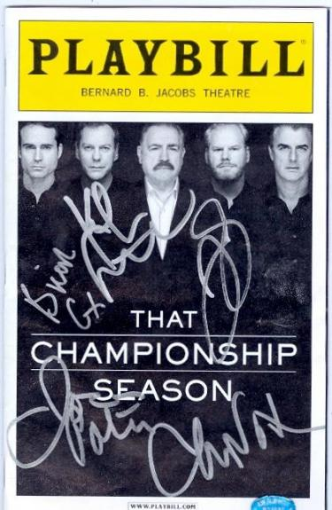 That Championship Season Playbill Program autographed by Kiefer Sutherland, Brian Cox, Chris Noth, Jason Patrick, & Jim Gaffigan (SCNTP)