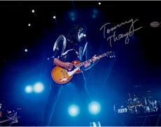 "Tommy Thayer Autographed 11"" x 14"" Playing Guitar Photograph"