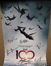 The 100 cast signed auto autographed 2014 Wondercon promo poster Eliza Taylor +5