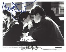 "The 1997 Movie ""GOOD WILL HUNTING"" Signed by MATT DAMON as WILL and MINNIE DRIVER as SKYLAR 10x8 B/W Photo"