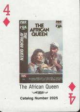 The African Queen RARE 1988 CBS Fox Promotional Playing Card Humphrey Bogart