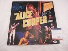The Alice Cooper Show Live Signed Autograph LP Album Record PSA Certified
