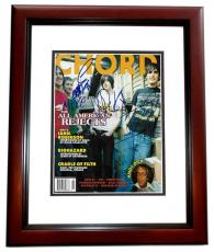 The All American Rejects Signed - Autographed Complete Group Chrod Magazine MAHOGANY CUSTOM FRAME - Guaranteed to pass PSA or JSA - Tyson Ritter, Nick Wheeler, Mike Kennerty, and Chris Gaylor