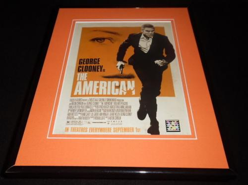 The American 2006 Framed 11x14 ORIGINAL Vintage Advertisement George Clooney