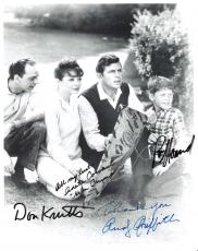 "THE ANDY GRIFFITH SHOW"" Signed by ANDY GRIFFITH, DON KNOTTS, ANETA CORSAUT and RON HOWARD (Andy and Don has Passed Away) 8x10 B/W Photo"