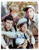 """THE ANDY GRIFFITH SHOW"""" Signed by ANDY GRIFFITH, DON KNOTTS, JIM NABORS, and RON HOWARD (Andy and Don has Passed Away) 8x10 Color Photo"""
