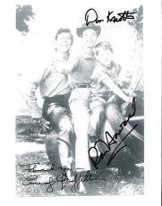 "THE ANDY GRIFFITH SHOW"" Signed by ANDY GRIFFITH (Passed Away 2012), DON KNOTTS (Passed Away 2006), and RON HOWARD 8x10 B/W Photo"