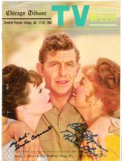 """THE ANDY GRIFFITH SHOW"""" Signed by BETTY LYNN as THELMA LOU and ANETA CORSAUT as HELEN CRUMP - 8.5x11 PAPER THIN"""