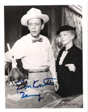"THE ANDY GRIFFITH SHOW"" Signed by DON KNOTTS and ELLEN CORBY 8x10 B/W Photo"