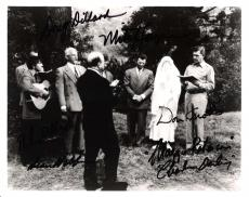 "THE ANDY GRIFFITH SHOW"" Signed by DON KNOTTS as BARNEY, MAGGIE PETERSON as CHARLENE DARLING, DOUG WILLARD as DOUG DARLING and MITCH JAYNE as MITCH DARLING 10x8 B/W Photo"