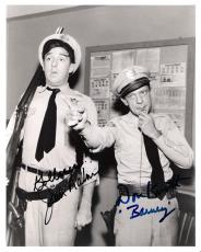 "THE ANDY GRIFFITH SHOW"" Signed by DON KNOTTS as BARNEY (Passed Away 2006) and JIM NABORS as GOMER PYLE 8x10 B/W Photo"