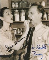 "THE ANDY GRIFFITH SHOW"" Signed by DON KNOTTS (BARNEY) and ELINOR DONAHUE (ELLIE) 8x10 B/W Photo"