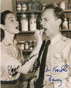 """THE ANDY GRIFFITH SHOW"""" Signed by DON KNOTTS (BARNEY) and ELINOR DONAHUE (ELLIE) 8x10 B/W Photo"""