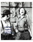 "THE APPLE DUMPLING GANG"" Signed by DON KNOTTS as THEODORE and TIM CONWAY as AMOS 8.5x11 B/W Photo"