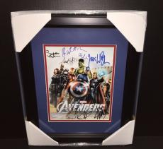 THE AVENGERS AUTOGRAPHED REPRINT STAN LEE CAST 8x10 PHOTO FRAMED 8X10 PHOTO